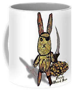 Coffee Mug featuring the digital art Pirate Weird Bun by Iowan SF and Ntr HMM