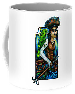 Pirate With Parrot Art Coffee Mug