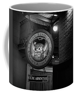 Pirates Alley Cafe Sign In Black And White Coffee Mug
