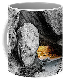 Pirate's Cave, Black And White And Gold Coffee Mug