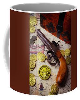 Pirates Chest And Pistole Coffee Mug
