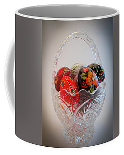 Coffee Mug featuring the photograph Pisanki by Julia Wilcox