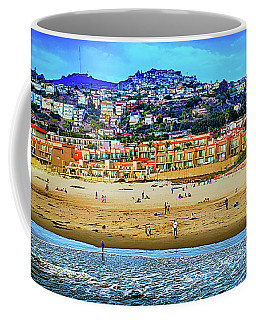 Coffee Mug featuring the photograph Pismo Hilltop Ocean View by Joseph Hollingsworth