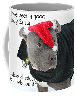 Pit Bull Christmas Two Coffee Mug
