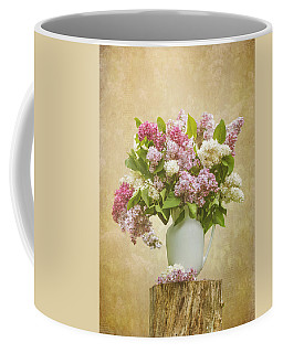 Pitcher Of Lilacs Coffee Mug