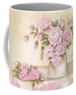 Pitcher Of  Pink Roses  Coffee Mug