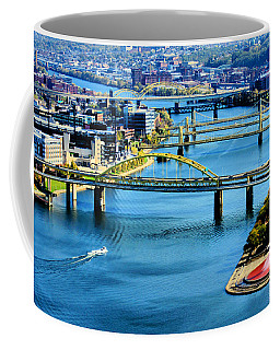 Pittsburgh At The Point Coffee Mug