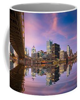 Coffee Mug featuring the photograph Pittsburgh  Blue Hour  by Emmanuel Panagiotakis