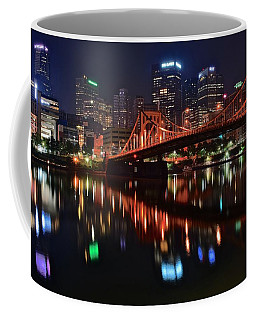 Pittsburgh Lights Coffee Mug by Frozen in Time Fine Art Photography