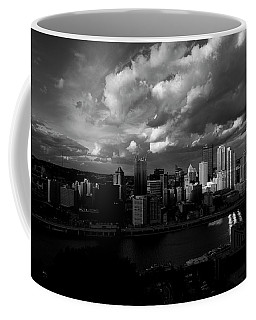 Pittsburgh Pennsylvania Skyline Black And White  Coffee Mug