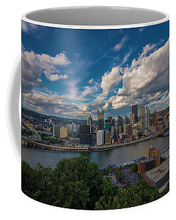 Pittsburgh Pennsylvania Skyline Blue Coffee Mug