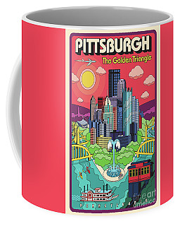 Pittsburgh Poster - Pop Art - Travel Coffee Mug