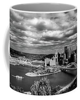 Pittsburgh Skyline With Boat Coffee Mug