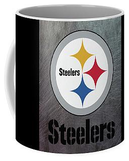 Pittsburgh Steelers On An Abraded Steel Texture Coffee Mug