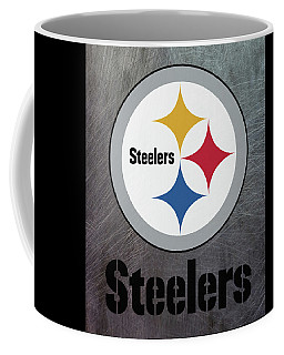 Pittsburgh Steelers On An Abraded Steel Texture Coffee Mug