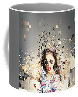 Pixel Pinup In 3d Printing Download Coffee Mug