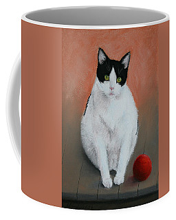 Pj And The Ball Coffee Mug by Marna Edwards Flavell