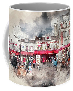 Place Du Tertre Montmartre Coffee Mug by Jack Torcello