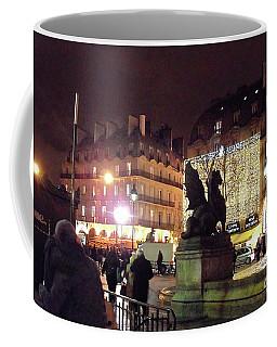 Coffee Mug featuring the photograph Place Saint-michel by Felipe Adan Lerma
