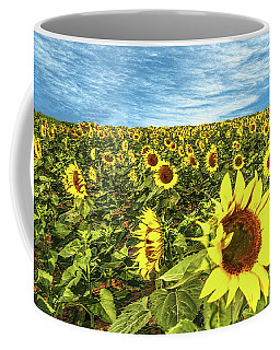 Coffee Mug featuring the photograph Plains Sunflowers by Scott Cordell