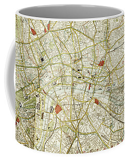 Coffee Mug featuring the photograph Plan Of Central London by Patricia Hofmeester