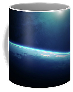 Planet Earth Sunrise From Space Coffee Mug