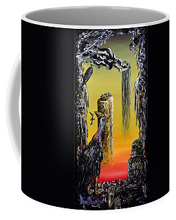Coffee Mug featuring the painting Planet Of Anomalies by Ryan Demaree
