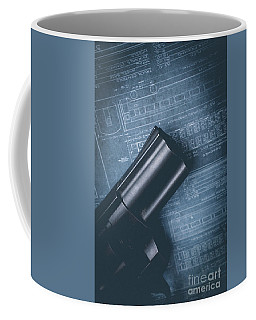 Coffee Mug featuring the photograph Planning The Heist by Edward Fielding