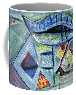 Coffee Mug featuring the painting Plastic Blessing by Stephen Lucas