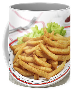 Plate With French Fries And Salad Coffee Mug