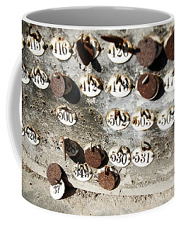 Plates With Numbers Coffee Mug by Carlos Caetano