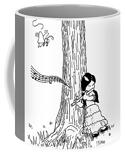 Play The Flute Under The Tree Coffee Mug
