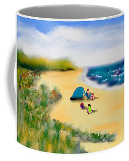 Coffee Mug featuring the painting Play Time by Frank Bright