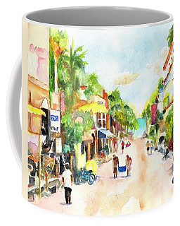 Playa Del Carmen Mexico Shops Coffee Mug
