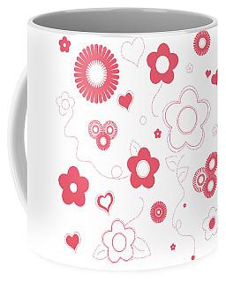 Playful Flower Background Coffee Mug