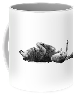 Playful Gray Wolf Photo Coffee Mug