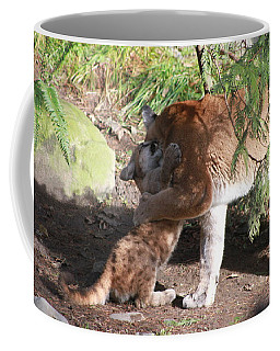 Coffee Mug featuring the photograph Playful Hugs by Laddie Halupa