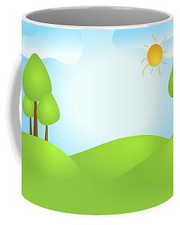 Playful Kid's Spring Backdrop Coffee Mug