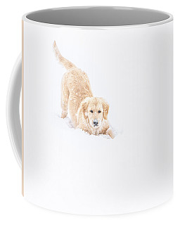 Playful Puppy In So Much Snow Coffee Mug