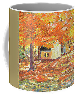 Coffee Mug featuring the painting Playhouse In Autumn by Carol L Miller