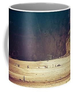 Playing Along Oceanside Oregon Coffee Mug by Amyn Nasser