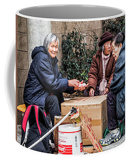 Playing Cards In Chinatown Coffee Mug