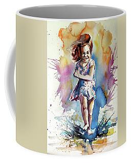 Coffee Mug featuring the painting Playing Girl by Kovacs Anna Brigitta
