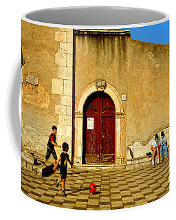 Playing In Taormina Coffee Mug