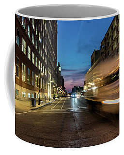 Coffee Mug featuring the photograph Playing In Traffic by Randy Scherkenbach