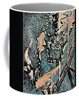 Coffee Mug featuring the digital art Playing It Koi by Mindy Newman