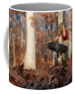 Coffee Mug featuring the photograph Playing On The Tire Swing by Greg Collins