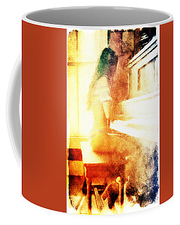 Playing Piano At The Window Coffee Mug