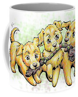Playtime Golden Retriever Coffee Mug