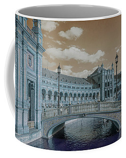 Coffee Mug featuring the photograph Plaza De Espana Vintage by Jenny Rainbow